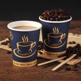 Tazas de café de papel de un sólo recinto baratas de calidad superior 7oz con la paja