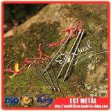 Chiodo di titanio di titanio del punto di Dia5.0mm per la lunghezza di campeggio esterna 165mm