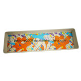 Colores personalizados de forma cuadrada de fibra de bambú Ensaladera con la bandeja