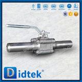 Vávula de bola asentada suave de flotación de los finales roscados A105 del precio competitivo de Didtek