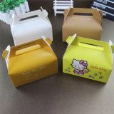 Rectángulo de torta plegable de cumpleaños del cuadrado del papel grande de la manera de lujo de encargo