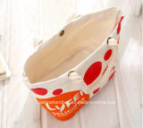 Les sacs à main de toile de coton de mode avec le traitement de corde, réutilisent le sac à provisions organique d'emballage de coton, sacs à main organiques promotionnels de coton