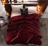 優れたニットのSherpaの投球毛布の極度の柔らかく居心地のよい毛布