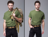 Camiseta de los hombres redondos del cuello de Esdy de la camisa del asalto de la caza