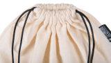 Kundenspezifischer natürlicher Segeltuch-Baumwollmusselindrawstring-Beutel