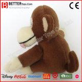 Mono suave del bebé del animal relleno de la felpa del juguete de la abrazo para los cabritos de los niños