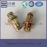 7.9X21.5mm亜鉛によってめっきされる刻みをつけられた固体鋼鉄停止Pinのリベット