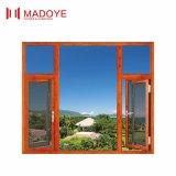 Окно Casement цвета дешевого цены хорошего качества Гуанчжоу алюминиевое деревянное