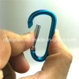 알루미늄 Carabiner D 모양 버클 팩 또는 Keychain 클립 훅 버클