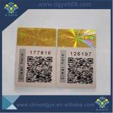 De hete het Stempelen Sticker van het Document van de Folie van het Hologram