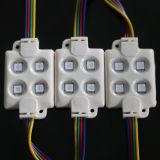 100lm 1.44W 4LEDs W/R/G/B 색깔 SMD5050는 표시 또는 Lightbox 또는 사업 로고 광고를 위한 LED 모듈을 방수 처리한다
