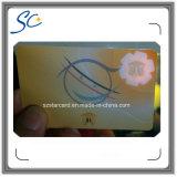Cartão do PVC do texto da impressão micro sem microplaqueta