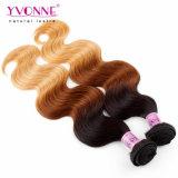 페루 머리 Ombre 색깔 3 음색 100 사람의 모발