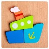 le bois animal de fruit de circulation d'insecte Montessori de dessin animé en bois de 3D badine le puzzle éducatif de jouet