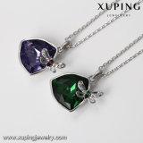 목걸이 00471 Xuping 모조 다이아몬드 펀던트 샹들리에 사슬 결정 사슬