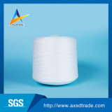 Hilados de poliéster de color blanco crudo para hilo de coser