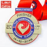 Medalha macia do mapa do esmalte 3D do metal feito sob encomenda da promoção da amostra livre
