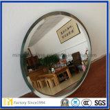 espejo de plata biselado de 5m m Frameless para la decoración casera