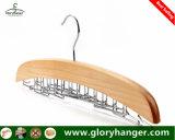 Colgador de lazo de madera con 24 Gancho de metal plegada