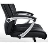 Modèle traditionnel de chaise pivotante de bureau avec le cuir noir