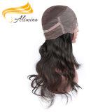 O fechamento indiano o mais barato da parte dianteira do laço do cabelo do cabelo humano