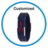 더 싼 가격 선전용 풀그릴 LED 디지털 실리콘 스포츠 시계