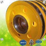 Porta de aço forjado do anel de elevação do guindaste polias com alta qualidade