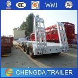 3axles中国の油圧低いベッドのトレーラー