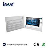 Подгонянная поздравительная открытка LCD экрана 7 дюймов видео-