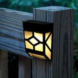 Lampada da parete propensa solare dell'indicatore luminoso del giardino del LED