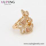14921 Elegante diseño en forma de mariposa Anillo de color oro 18K joyería de lujo el anillo de Zirconio para niñas