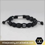 Großhandelshämatit-Raupe-Armband für Männer, wulstiges Armband Mjb032