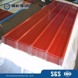 Hojas acanaladas galvanizadas del material para techos del color