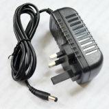 BRITISCHER Stecker-Adapter Wechselstrom 100-240V zum 12V 2A Versorgung-Adapter
