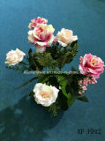 Fiore artificiale/di plastica/di seta Rosa Bush (XF-FD12)