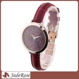Neue Art-spezieller Vorwahlknopf in der klassischen Uhr, wasserdichte Edelstahl-Leder-Uhr