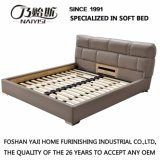 Modern Style Coffee Color Leather Bed Furniture G7003