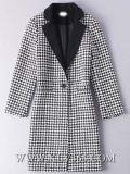 Último en diseño de las mujeres señoras la moda invierno largo abrigo de lana
