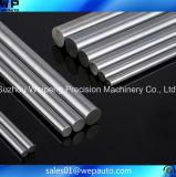 Eje de acero cromado de precisión de los ejes de rodamientos lineales
