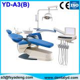 Silla dental de lujo aprobada con 9 programas, luz del funcionamiento del LED, cabina movible, escupidera de cerámica del Ce