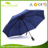 Parapluie personnalisé bleu-foncé de promotion de logo pour la vente en gros