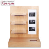 جذّابة عادة تصميم عدّاد حديثا خشبيّة و [أكرليك غلسّ] عرض حامل قفص مع ملصقة