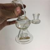 Труба Glassbong Recycler оптовой стеклянной воды куря