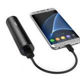 Banco cilíndrico rápido da potência do telefone 5000mAh da carga 3.0 do banco da potência cobrar rápido do mini para o telefone