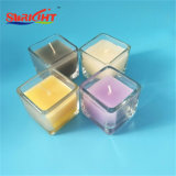 Классицистические белые стеклянные свечки опарника для магазина подарка