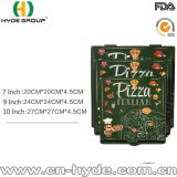 Rectángulo de encargo impreso cuadrado para llevar de la pizza del cartón