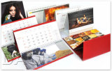 Calendario di scrittorio personalizzato di stampa di colore completo di alta qualità