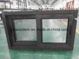 Woodwin doble cristal templado de color personalizado ventanas corredizas de aluminio