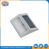 IP65 lumière extérieure solaire chaude en aluminium du blanc DEL pour des escaliers
