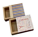 Kundenspezifischer Spitzendrucken-Packpapier-Seifen-verpackenkasten